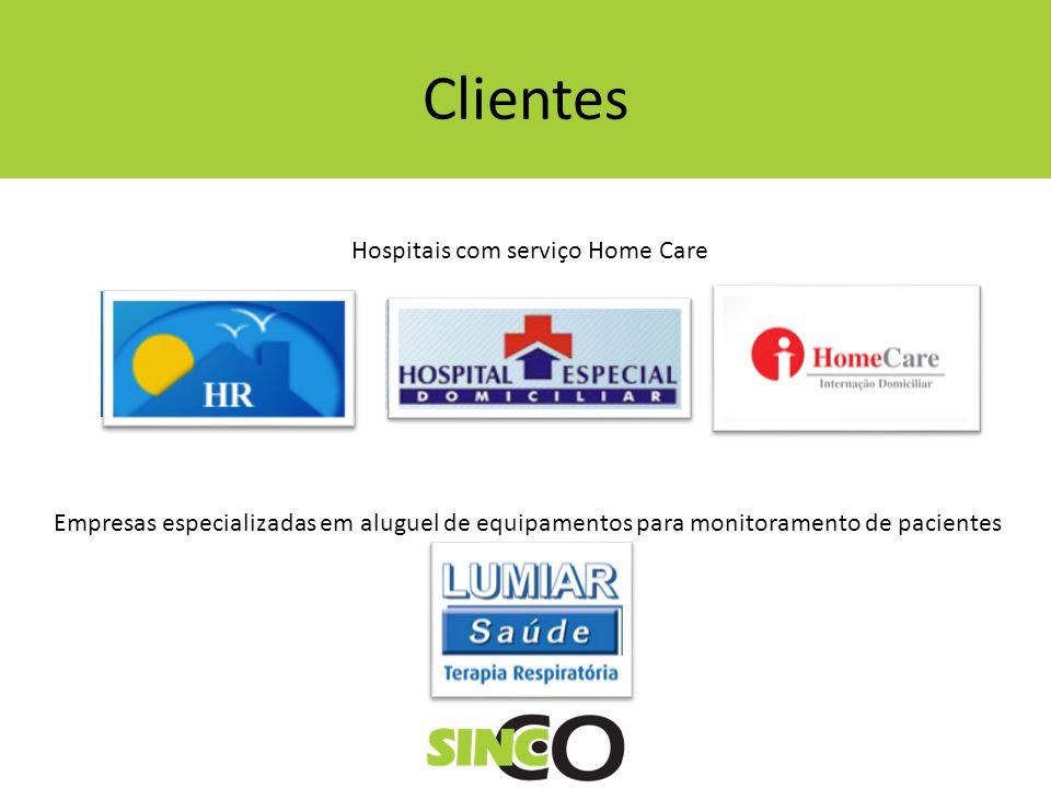 Clientes Hospitais com serviço Home Care