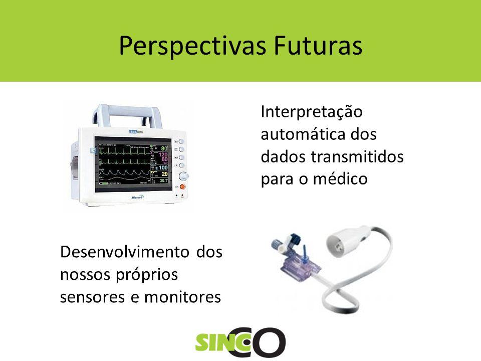 Perspectivas Futuras Interpretação automática dos dados transmitidos para o médico.