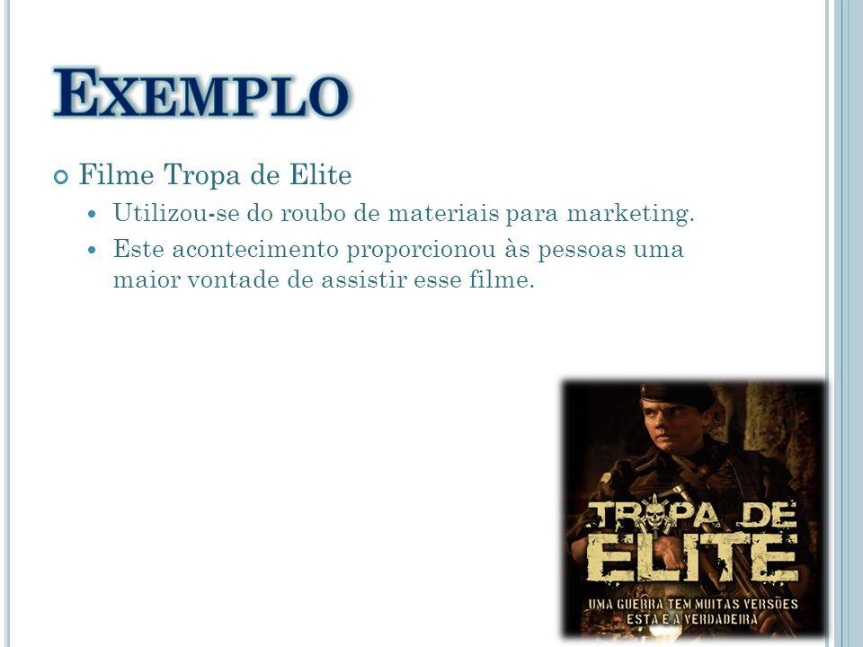 Exemplo Filme Tropa de Elite