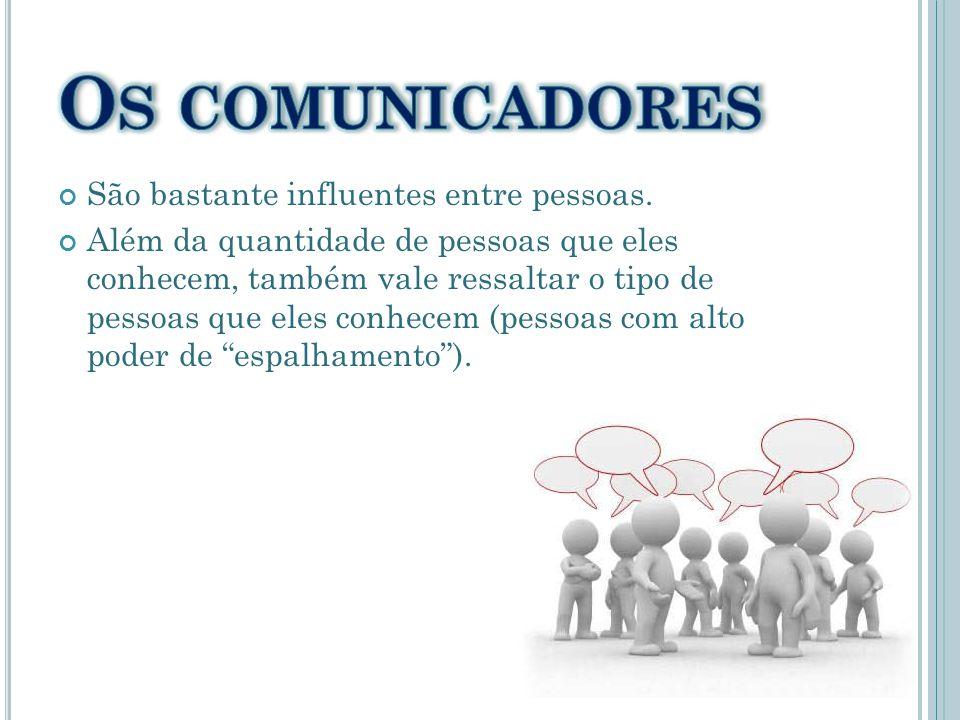 Os comunicadores São bastante influentes entre pessoas.