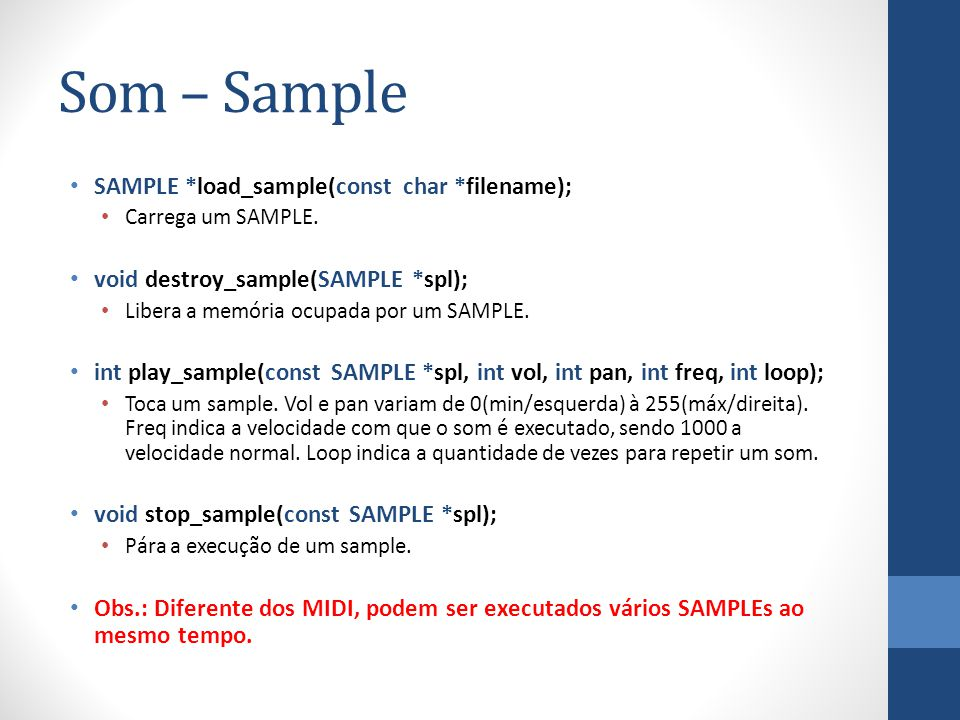 Som – Sample SAMPLE *load_sample(const char *filename);