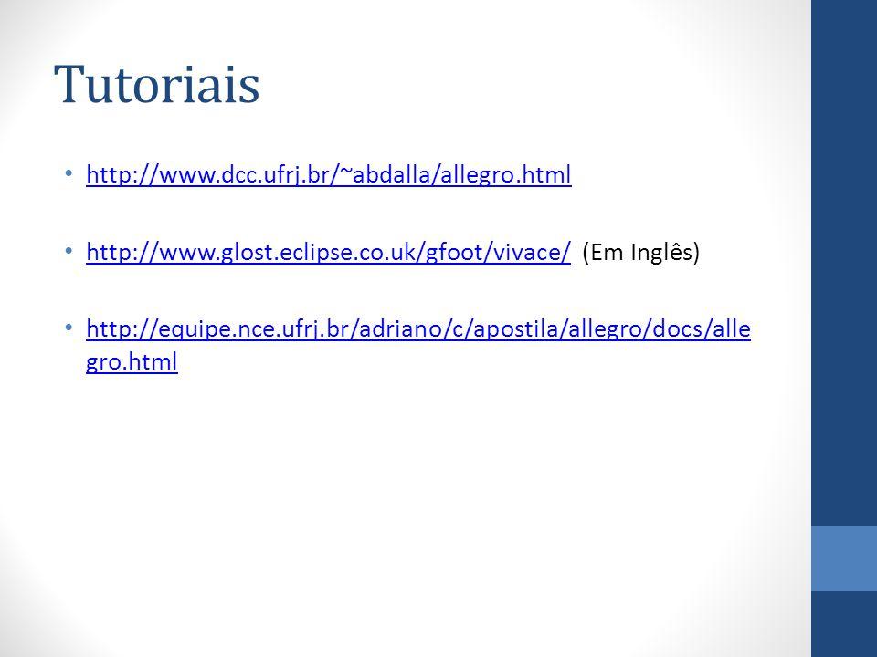Tutoriais http://www.dcc.ufrj.br/~abdalla/allegro.html