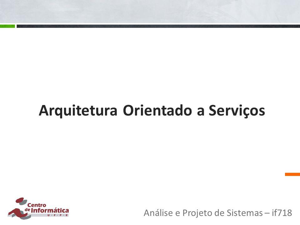 Arquitetura Orientado a Serviços