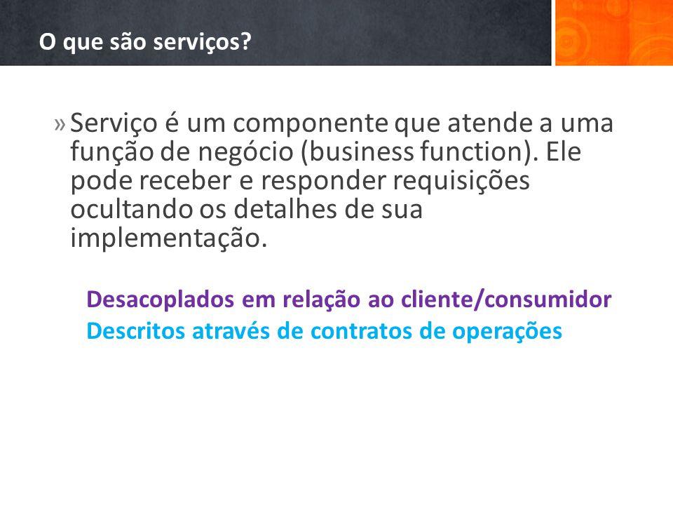 O que são serviços