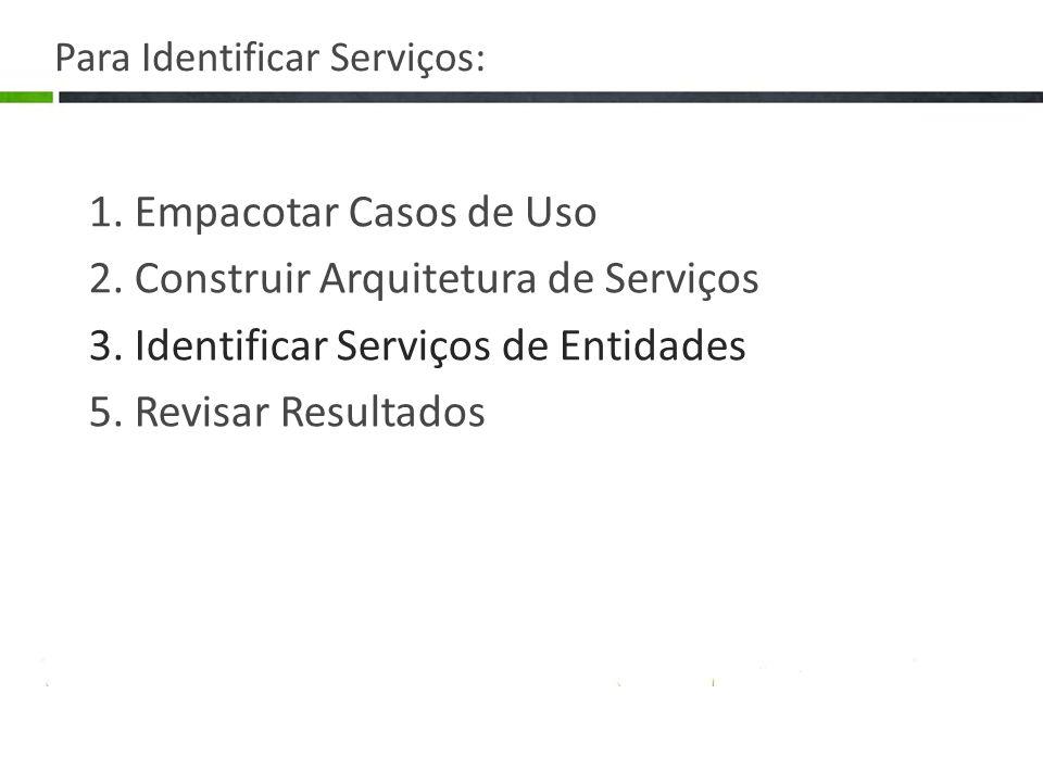 Para Identificar Serviços: