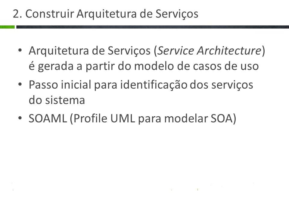 2. Construir Arquitetura de Serviços