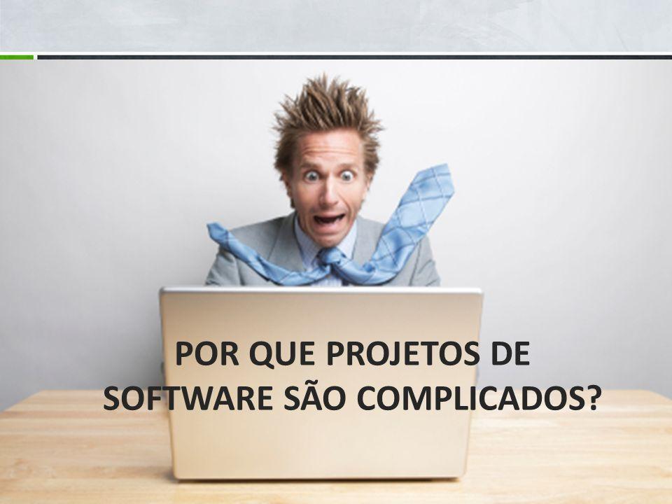 Por que projetos de software são complicados