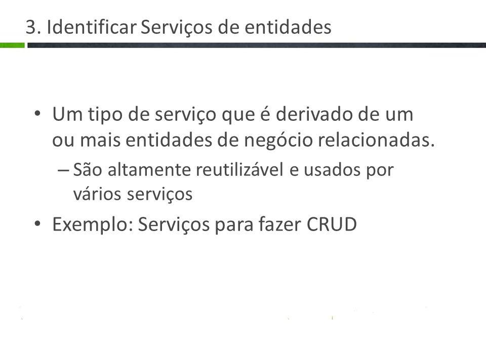 3. Identificar Serviços de entidades