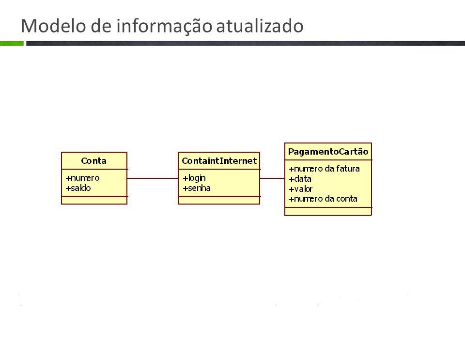 Modelo de informação atualizado