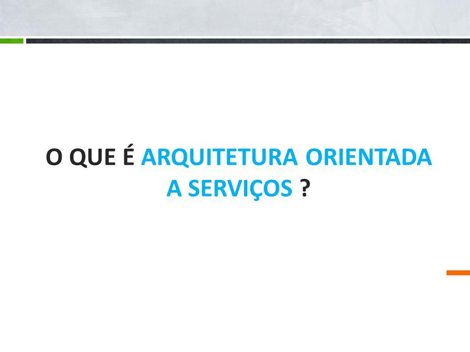 O que é Arquitetura Orientada a Serviços