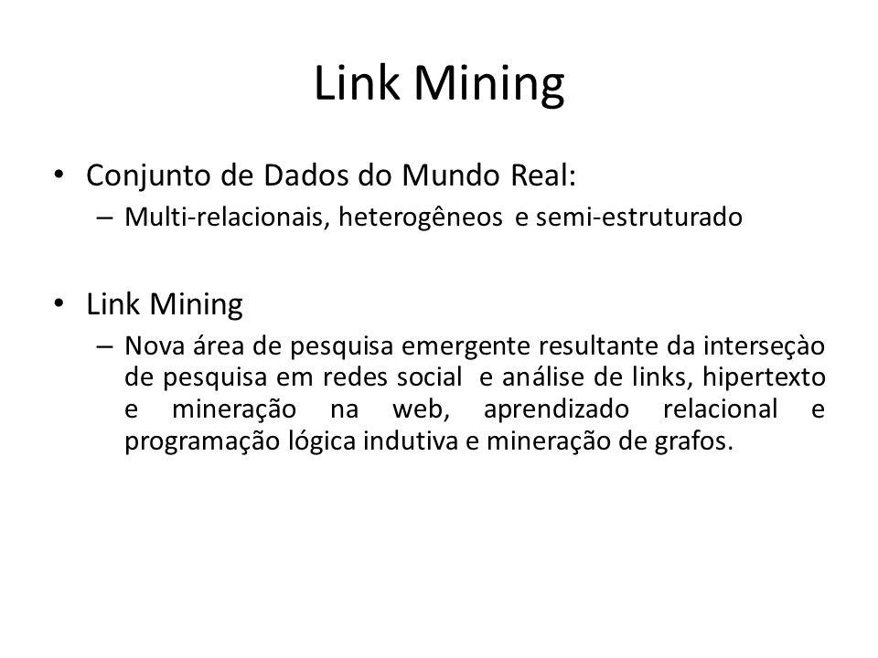 Link Mining Conjunto de Dados do Mundo Real: Link Mining