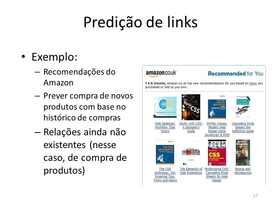 Predição de links Exemplo: