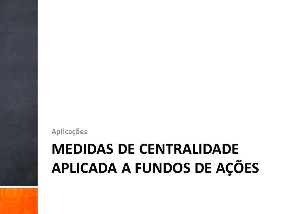 Medidas de Centralidade aplicada a Fundos de Ações