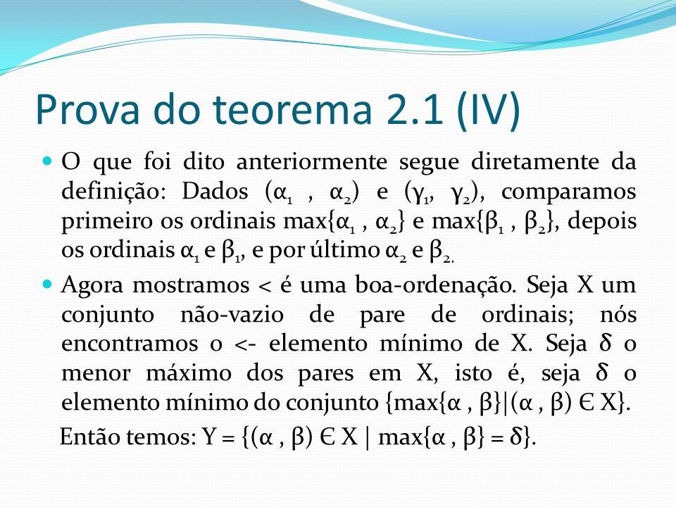 Prova do teorema 2.1 (IV)