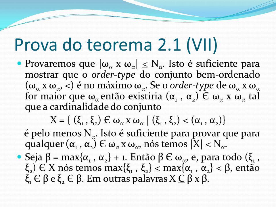 X = { (ξ1 , ξ2) Є ωα x ωα | (ξ1 , ξ2) < (α1 , α2)}