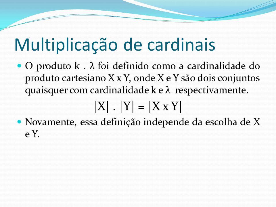 Multiplicação de cardinais