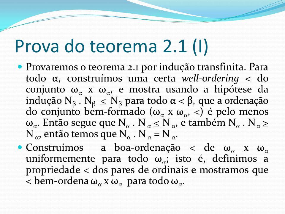 Prova do teorema 2.1 (I)
