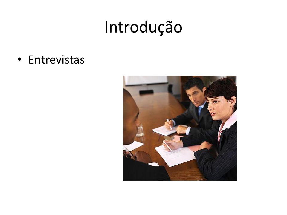 Introdução Entrevistas