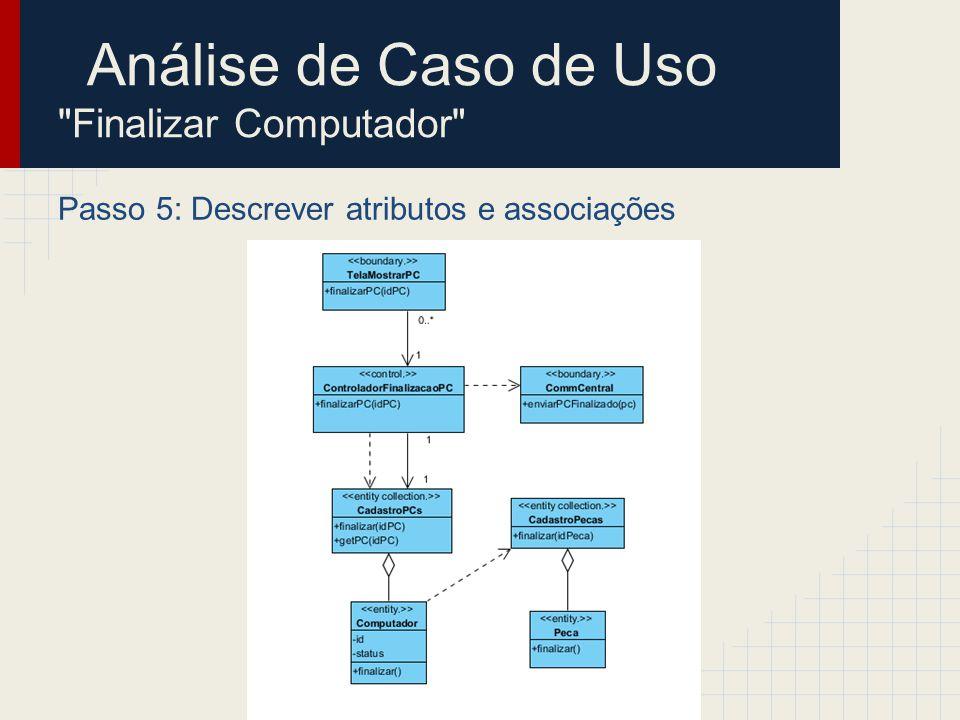 Análise de Caso de Uso Finalizar Computador