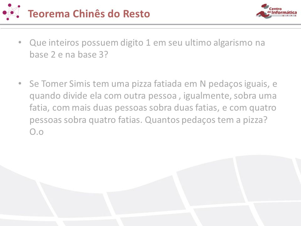 Teorema Chinês do Resto