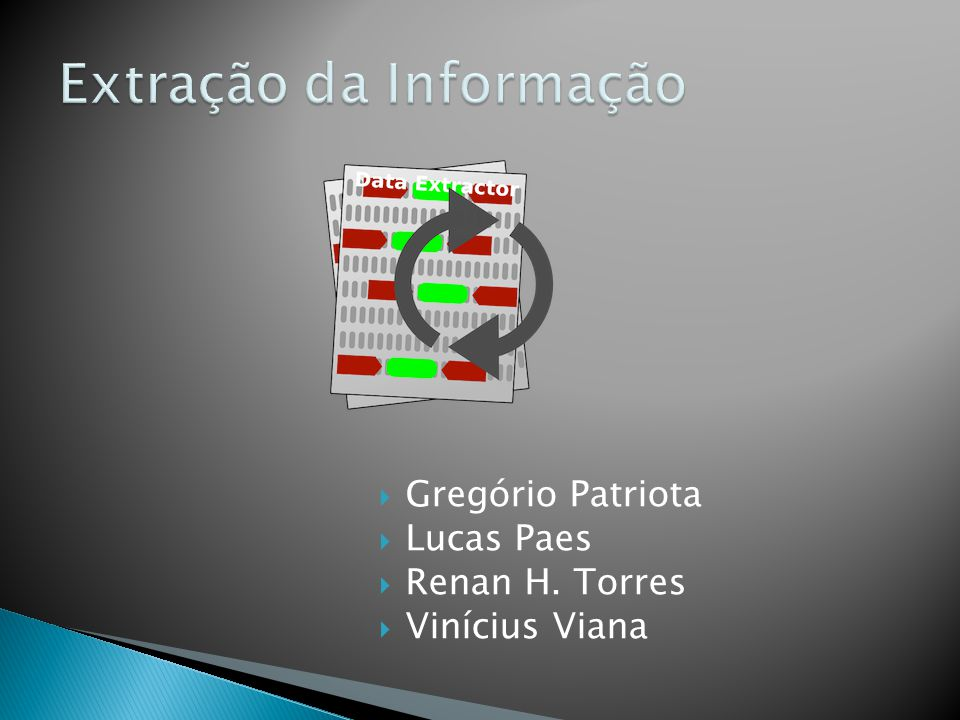 Extração da Informação