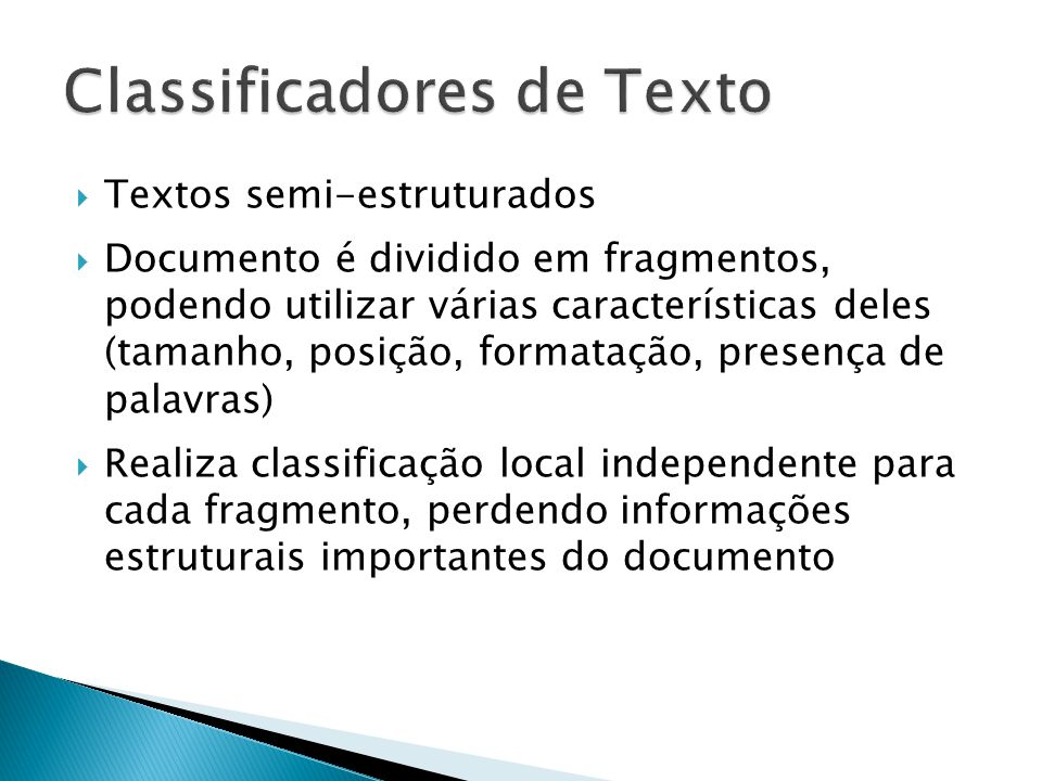 Classificadores de Texto