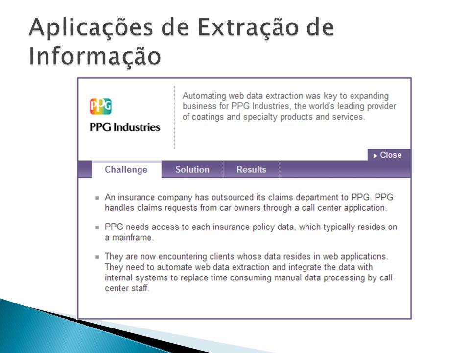 Aplicações de Extração de Informação