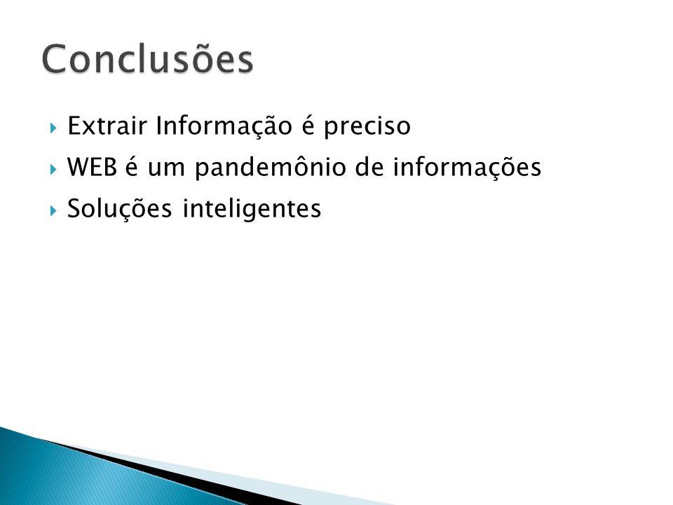 Conclusões Extrair Informação é preciso