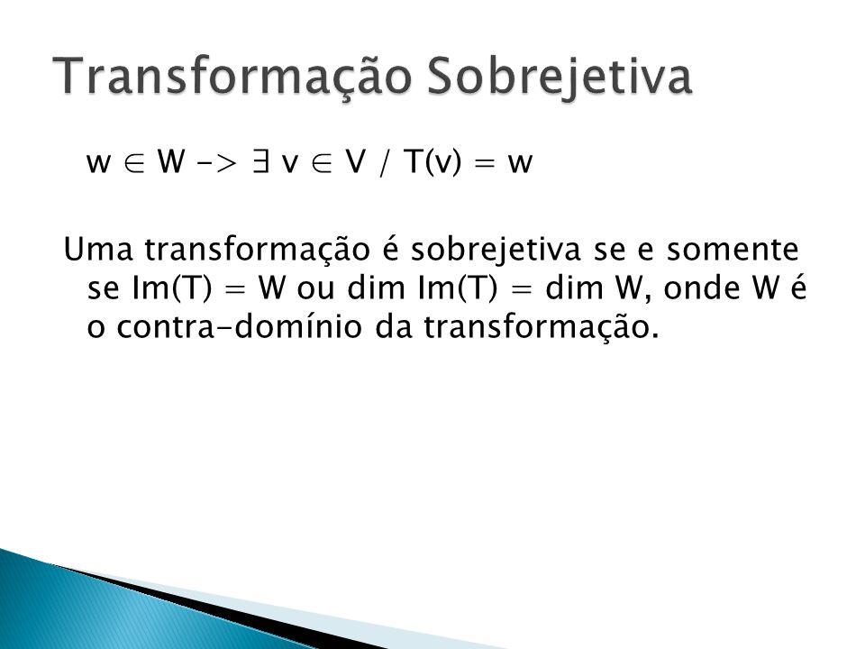 Transformação Sobrejetiva