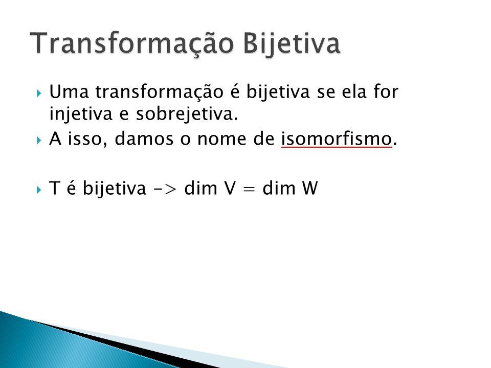 Transformação Bijetiva