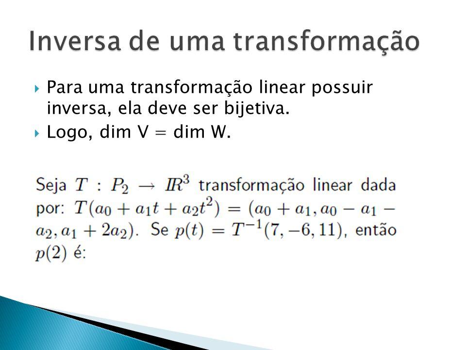 Inversa de uma transformação