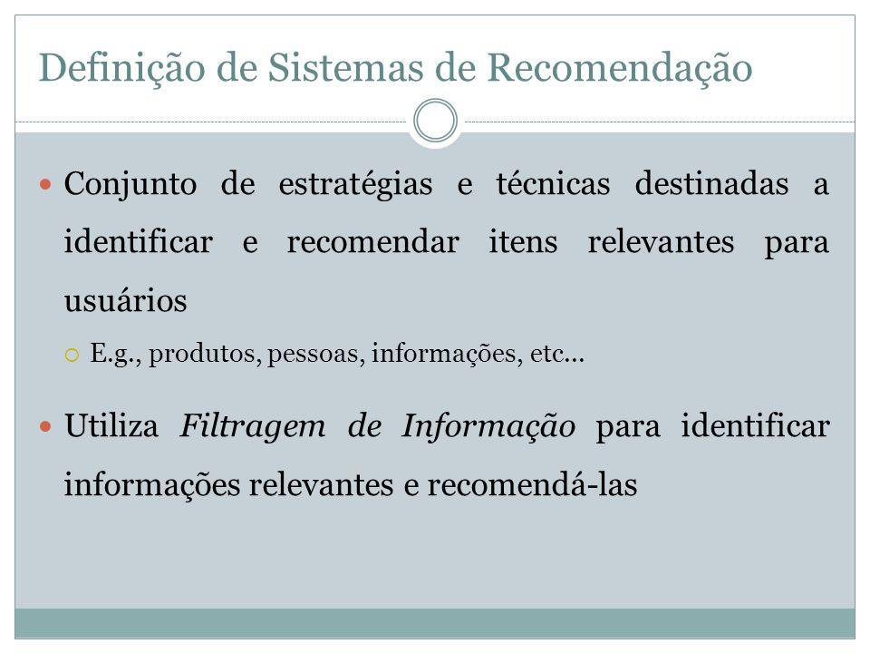Definição de Sistemas de Recomendação