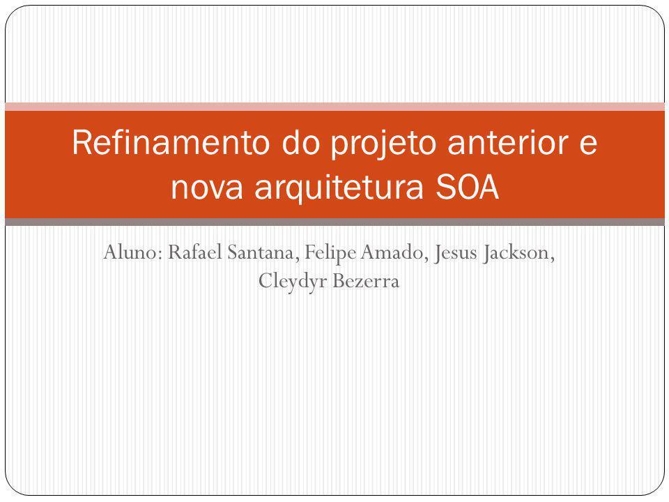 Refinamento do projeto anterior e nova arquitetura SOA