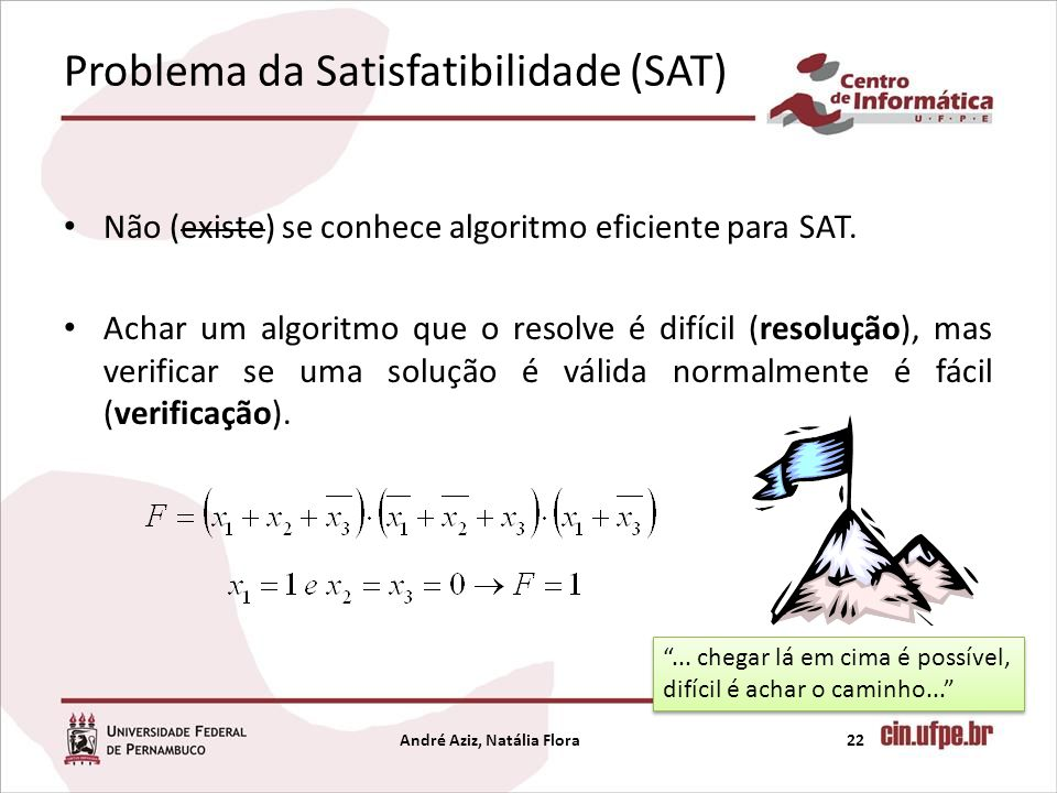 Problema da Satisfatibilidade (SAT)