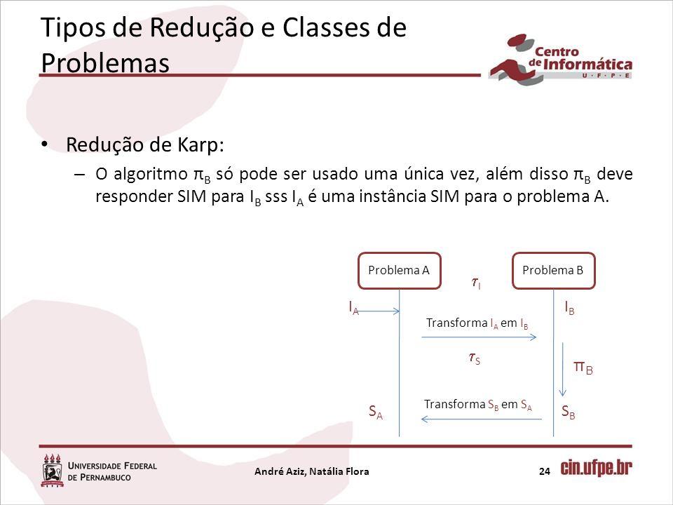 Tipos de Redução e Classes de Problemas