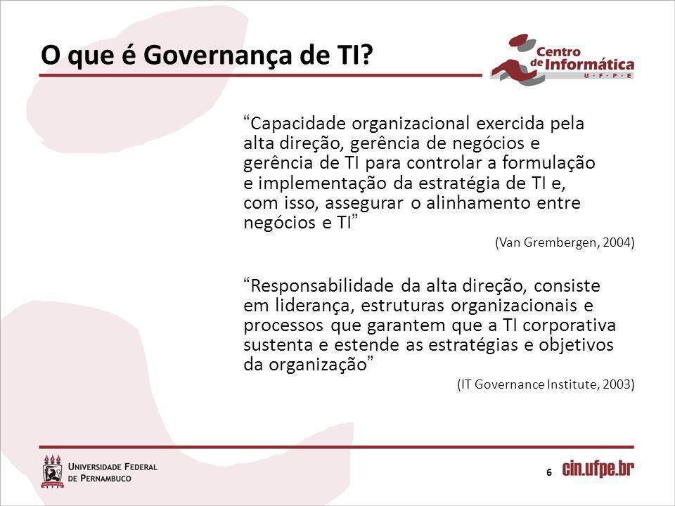 O que é Governança de TI