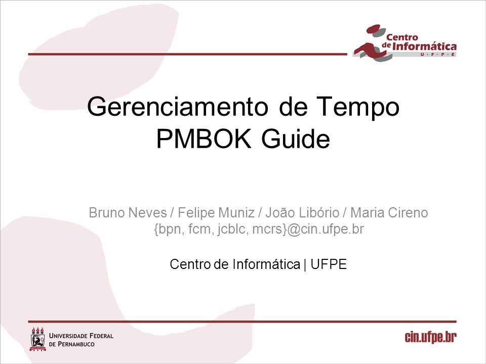 Gerenciamento de Tempo PMBOK Guide