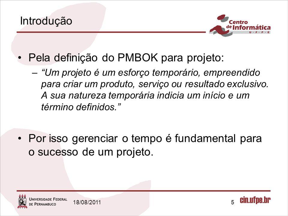 Pela definição do PMBOK para projeto:
