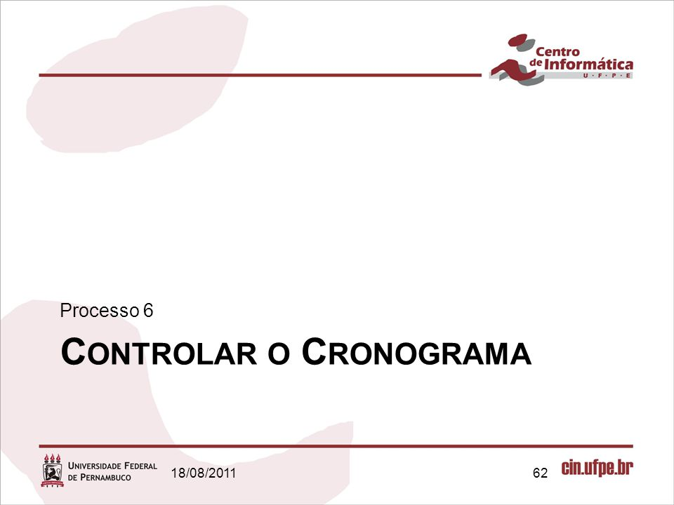 Controlar o Cronograma