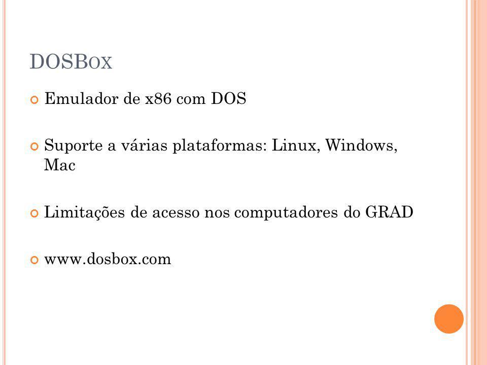 DOSBox Emulador de x86 com DOS