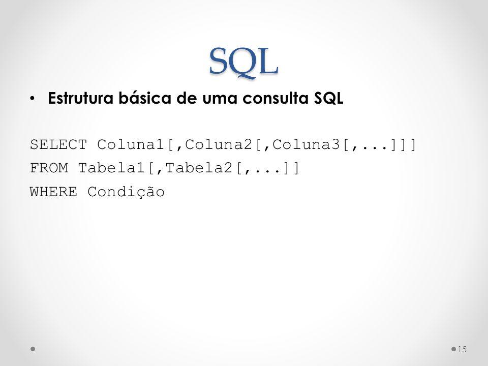 SQL Estrutura básica de uma consulta SQL