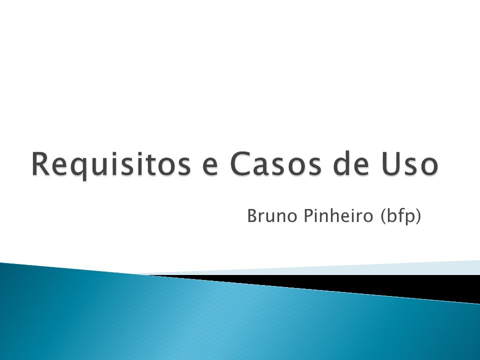 Requisitos e Casos de Uso