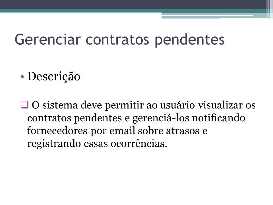Gerenciar contratos pendentes