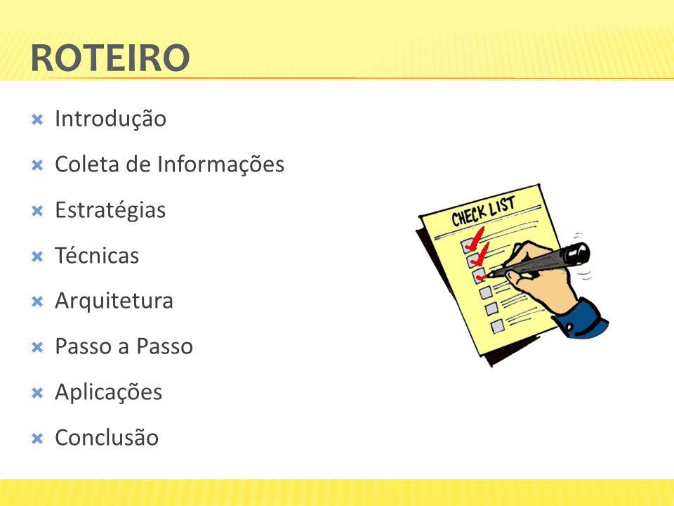 Roteiro Introdução Coleta de Informações Estratégias Técnicas