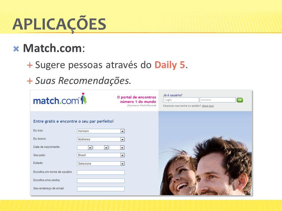 Aplicações Match.com: Sugere pessoas através do Daily 5.