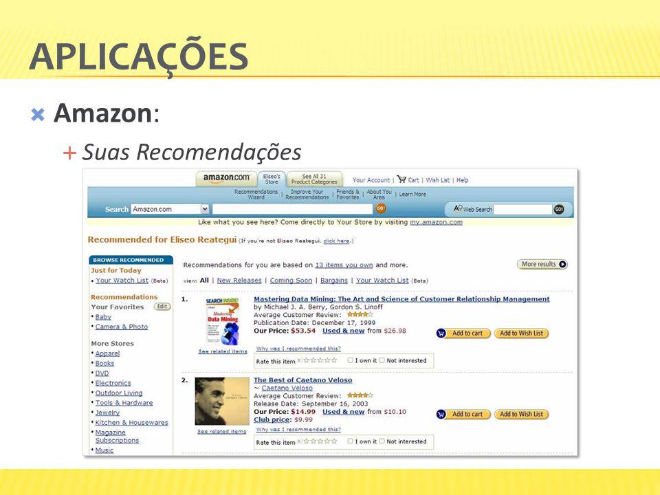 Aplicações Amazon: Suas Recomendações