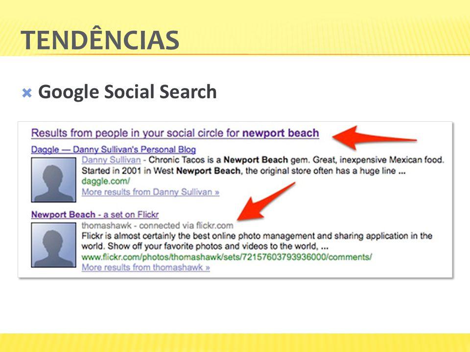 Tendências Google Social Search Suas recomendações