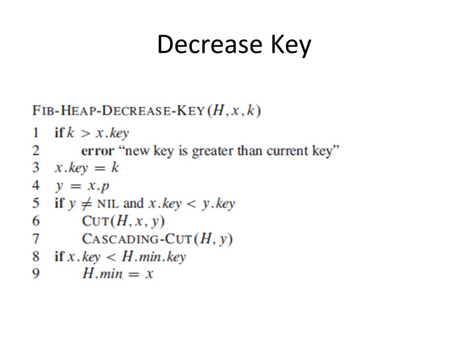 Decrease Key