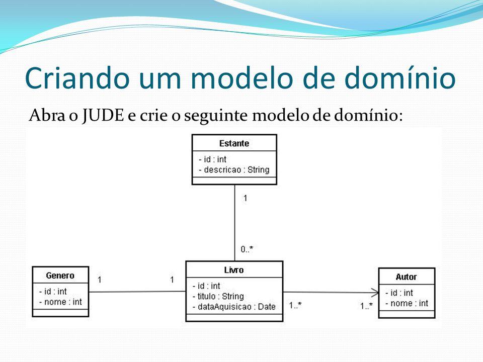 Criando um modelo de domínio