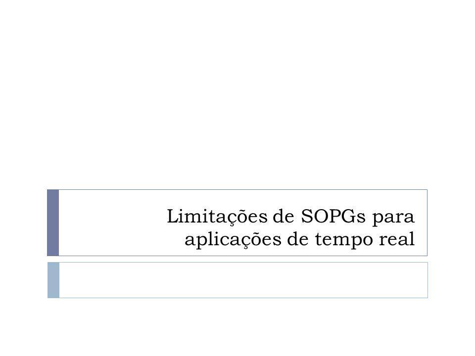 Limitações de SOPGs para aplicações de tempo real